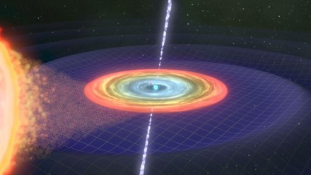 Continuous gravitational waves animation